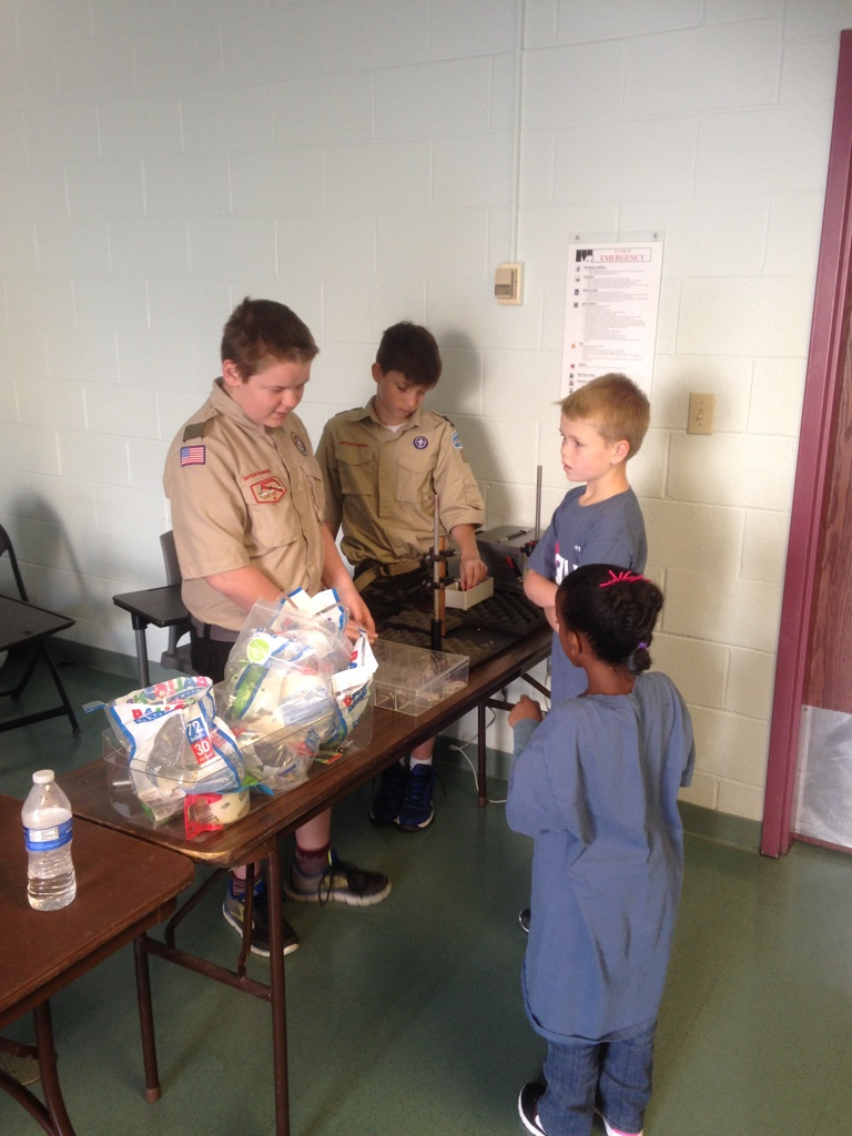 Rockville Science day with Troop 1097